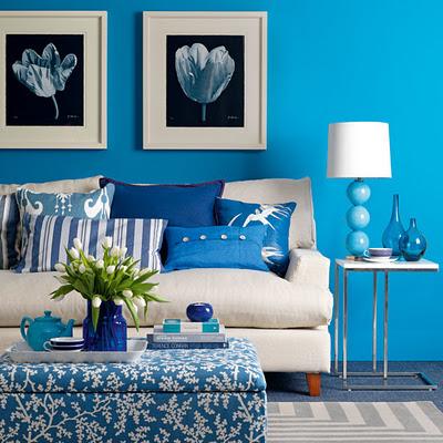 دکوراسیون رنگ آبی